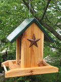 Cedar Bird Feeder w/ Rust Star