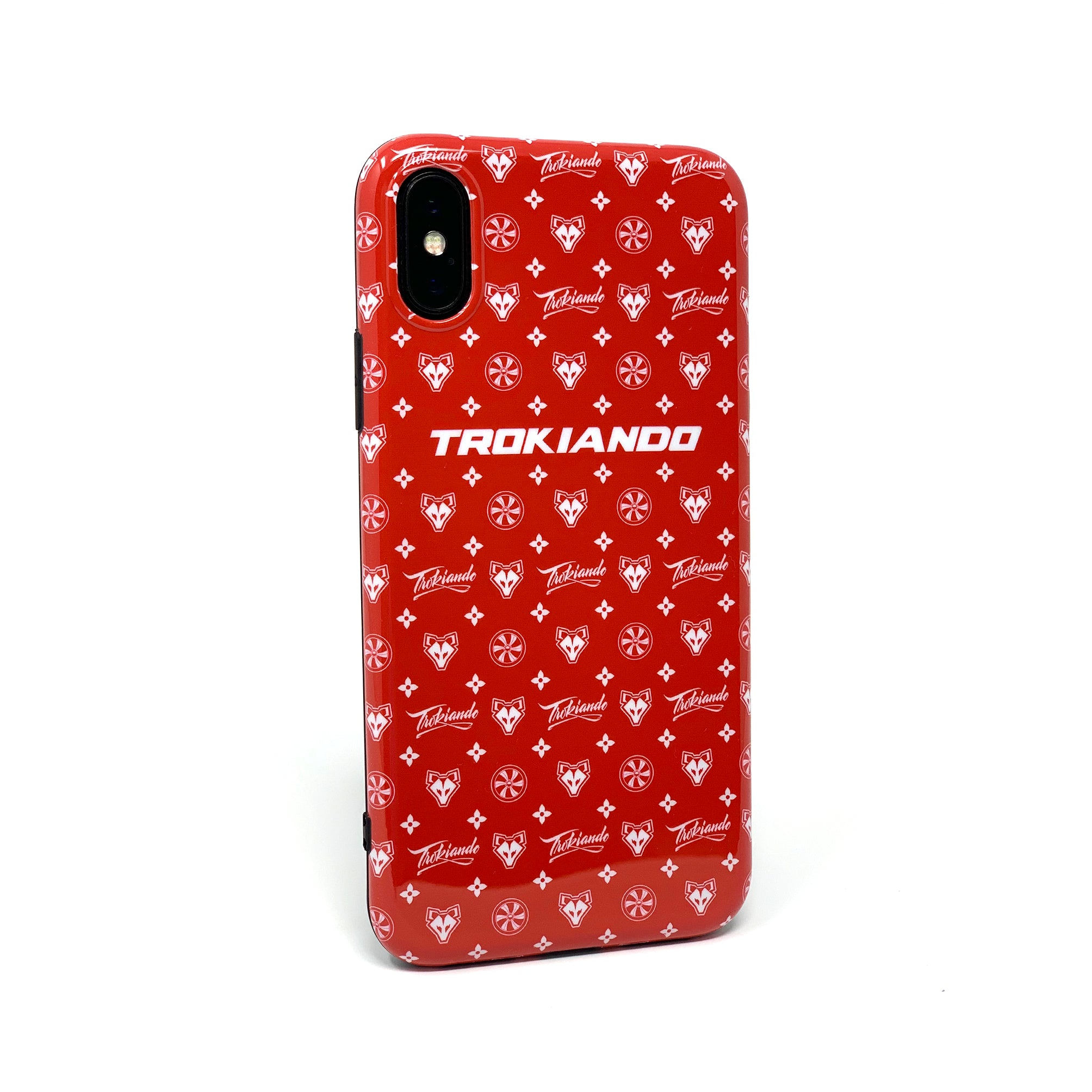 Red Canvas Phone Case