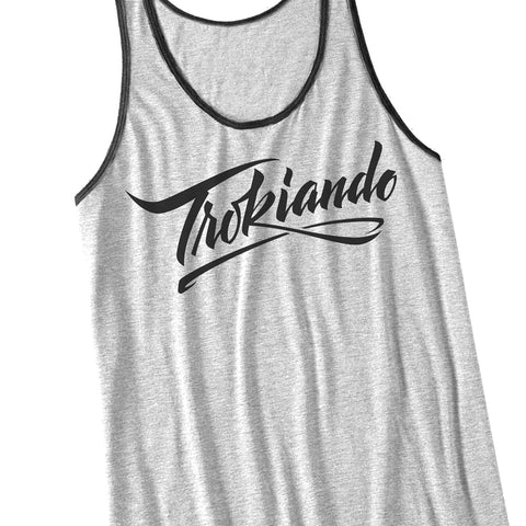 Trokiando Tank (Light Grey/Black)