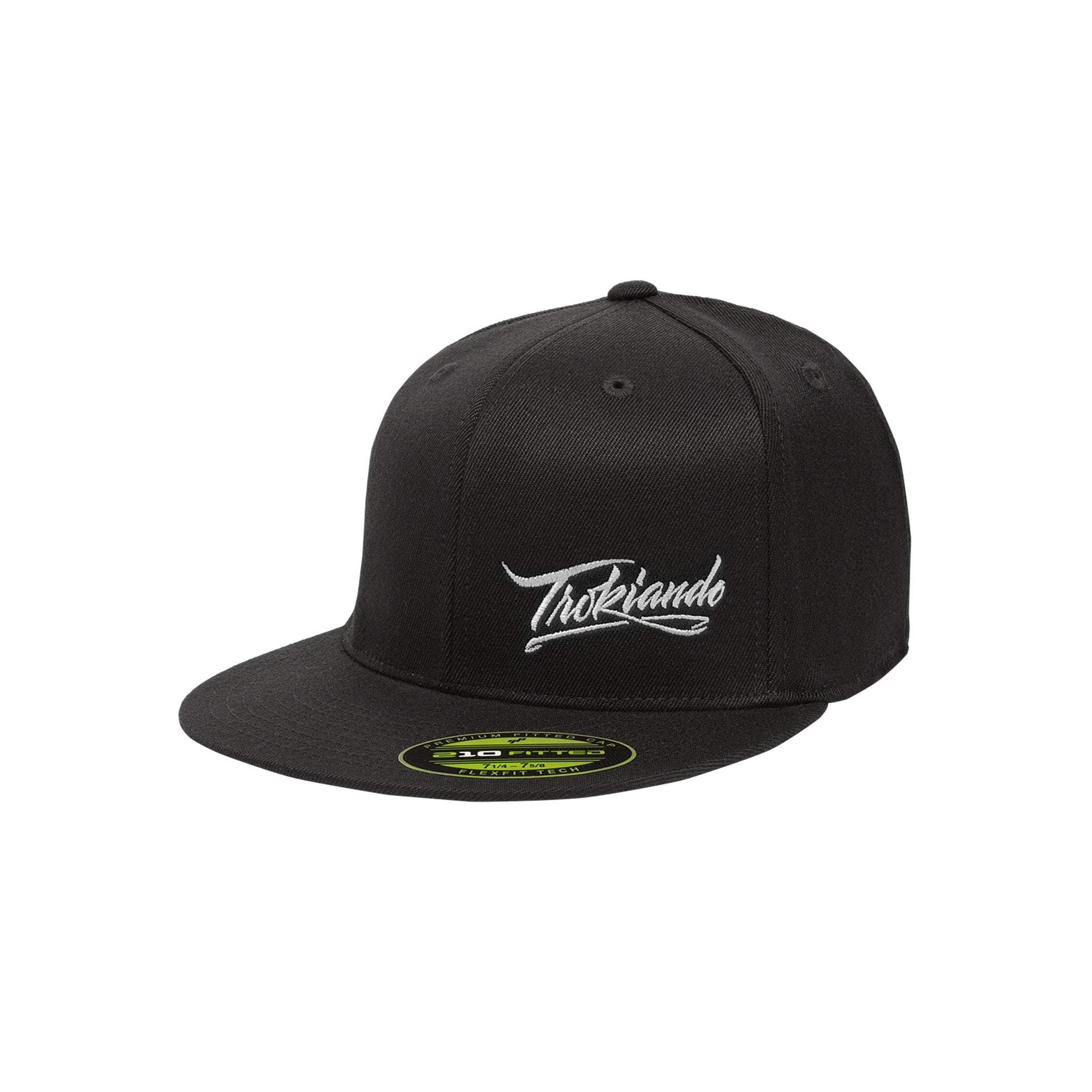 Black Fitted Hat (White)