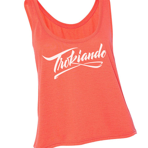 Ladies Crop Tank (Coral)