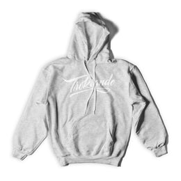 Heather Grey + White Hoodie