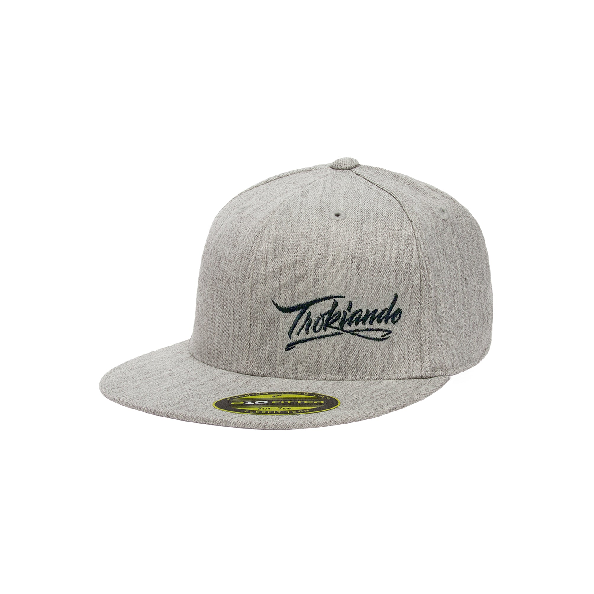 Heather Grey Fitted Hat
