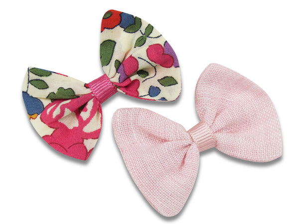 Liberty & linen baby bows