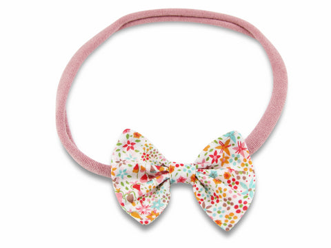 Liberty Eve pink baby headband