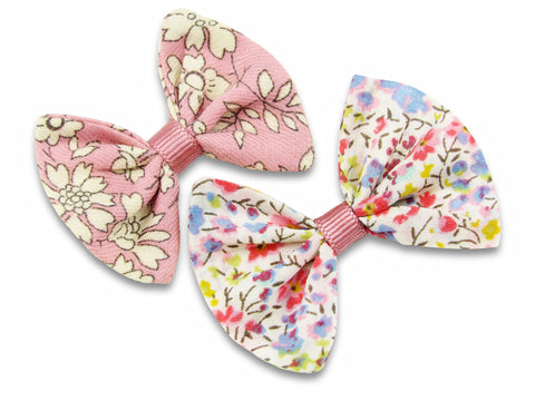 Liberty Phoebe P and Capel pink baby bows