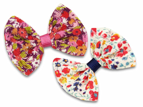 Liberty Cord P and Phoebe S baby bows