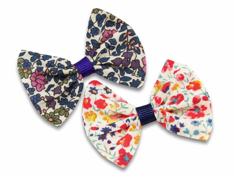 Liberty print Emelia's flowers and Phoebe S baby bows