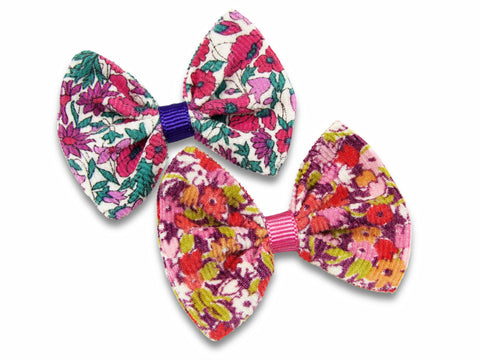 Liberty Poppy and daisy + Cord P baby bows