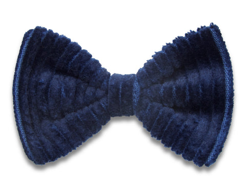 Navy corduroy Bella hair bow