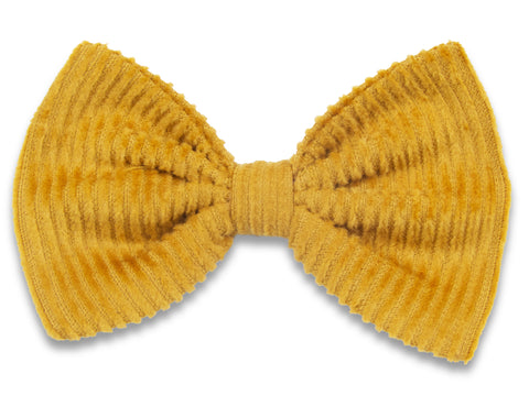 Old mustard corduroy Bella hair bow