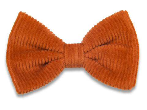 Rust corduroy Bella hair bow