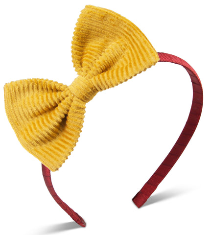 Old mustard corduroy Bella headband