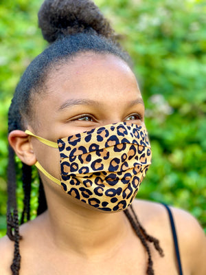 Open image in slideshow, Leopard face mask
