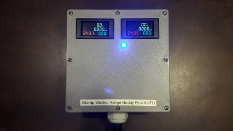 Upgrade pak for Electric Range Buddy on order (waiting for build) to Twin 4 Color kWH meters