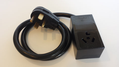 Adapter #14 14-30 Plug to 10-30R box outlet adapter