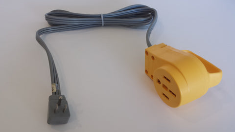 Adapter #21 v.3 15amp. 5-15 right angle plug (regular 15A plug) to Camco 14-50 outlet 5.5'
