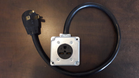 Adapter #78 30amp, 14-xx Plug to 6-30 box outlet Adapter