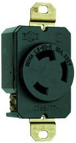 Power Spy™ #1 30A 240v power monitor - 5ft. cable NEMA L6-30 to single L6-30 outlet with kWh meter