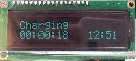 RGB LCD display with Real Time Clock - add a beautiful RGB LCD and programable start/stop times to your EVSE.