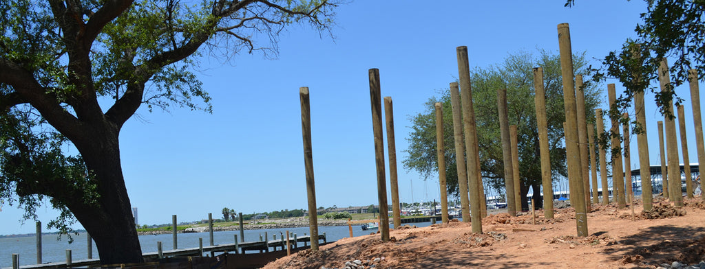 construction on the new restaurant at Seabrook Marina & Shipyard, Seabrook Texas