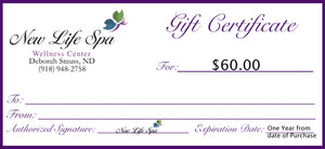 Gift Certificate - $60