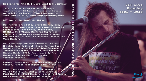Back in Time Live Bootleg Blu-Ray