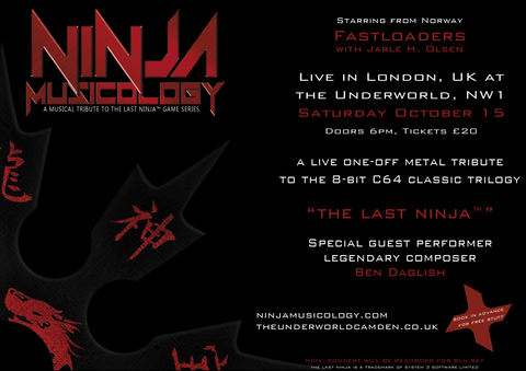 Ninja Musicology Live - Gig ticket, 15th October 2016