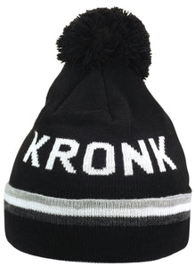 KRONK DETROIT WINTER BOBBLE HAT BLACK