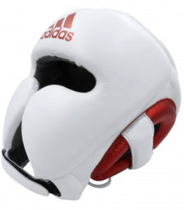 ADIDAS ADISTAR PRO HEAD GUARD WHITE/RED