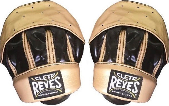 CLETO REYES LEATHER COACHES MITTS BLK/GLD