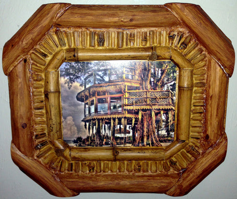 The Beach Treehouse Print in Wood Frame