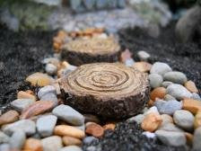 Tree Stump Stepping Stones (Set of 4)