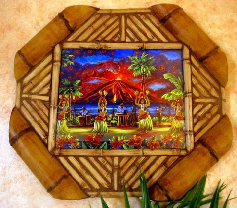 Polynesian Dancers in Bamboo Frame
