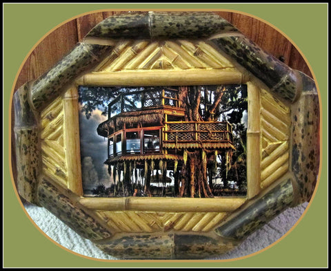 Treehouse Print in Black Bamboo Frame