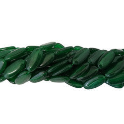 Jade Verde Malásia Oval Lisa 15x30mm