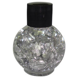 SILVERED BOTTLES BLACK TOP