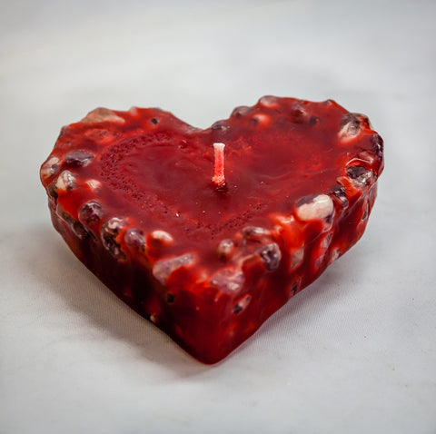 Candle - Heart 9 cm