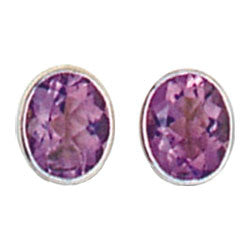ENGLISH SETTING WITH FACETTED AMETHYST EARRINGS