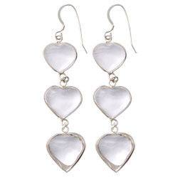 3 CRYSTAL HEARTS EARRINGS