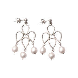 3 SPHERES PRINCESS PEARLS EARRINGS