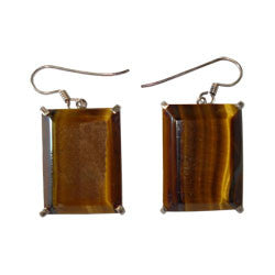 LEONA TIGER EYE EARRINGS