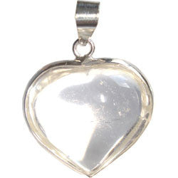 CRYSTAL HEART WITH SILVER