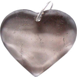 LARGE FACETTED HEART WITH SILVER LOOP