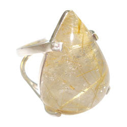 RUTILATED QUARTZ FANCY STYLE RING