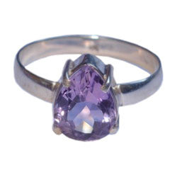 AMETHYST THICK SETTING FACETTED STONE RING