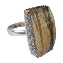 LODOLITE RING WITH FILIGREE