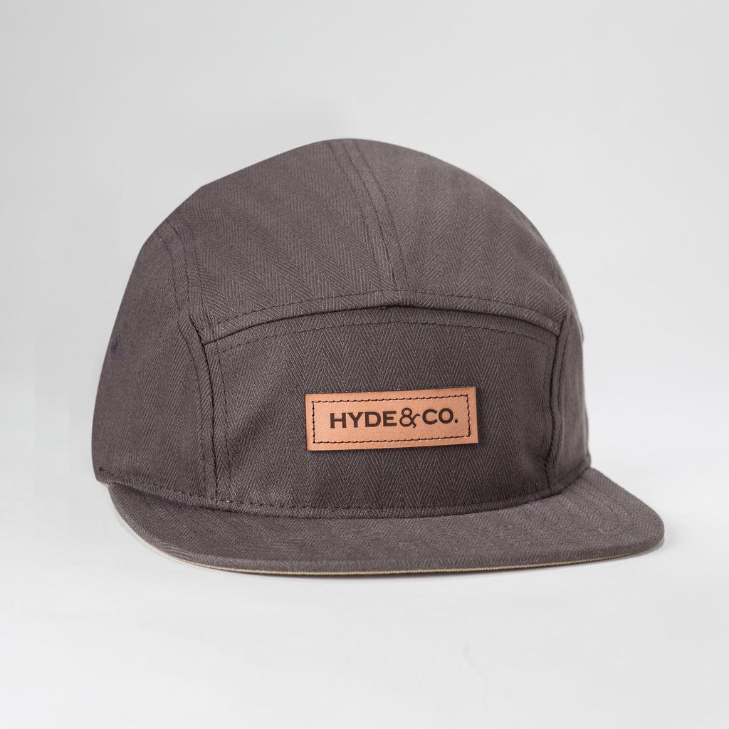 Herringbone 5-panel in slate