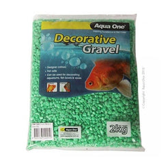 Aqua One Gravel Metallic Green 2kg