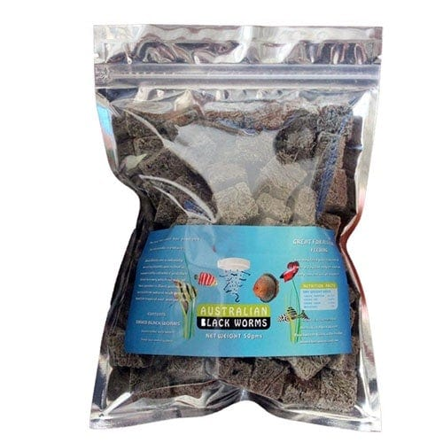 Australian Freezed Dried Black Worms Cubes 50g Bag